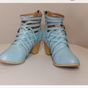 Rialto blue booties